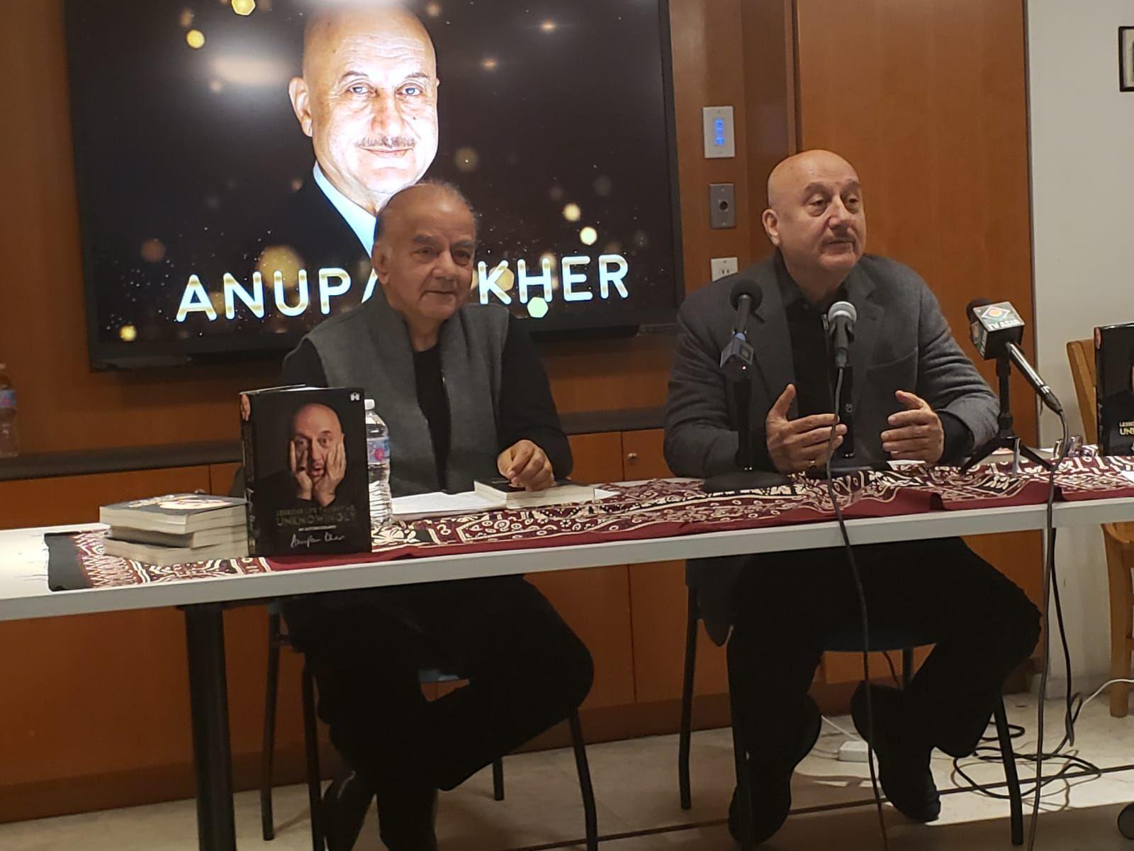 Nirmal Mattoo and Anupam Kher.